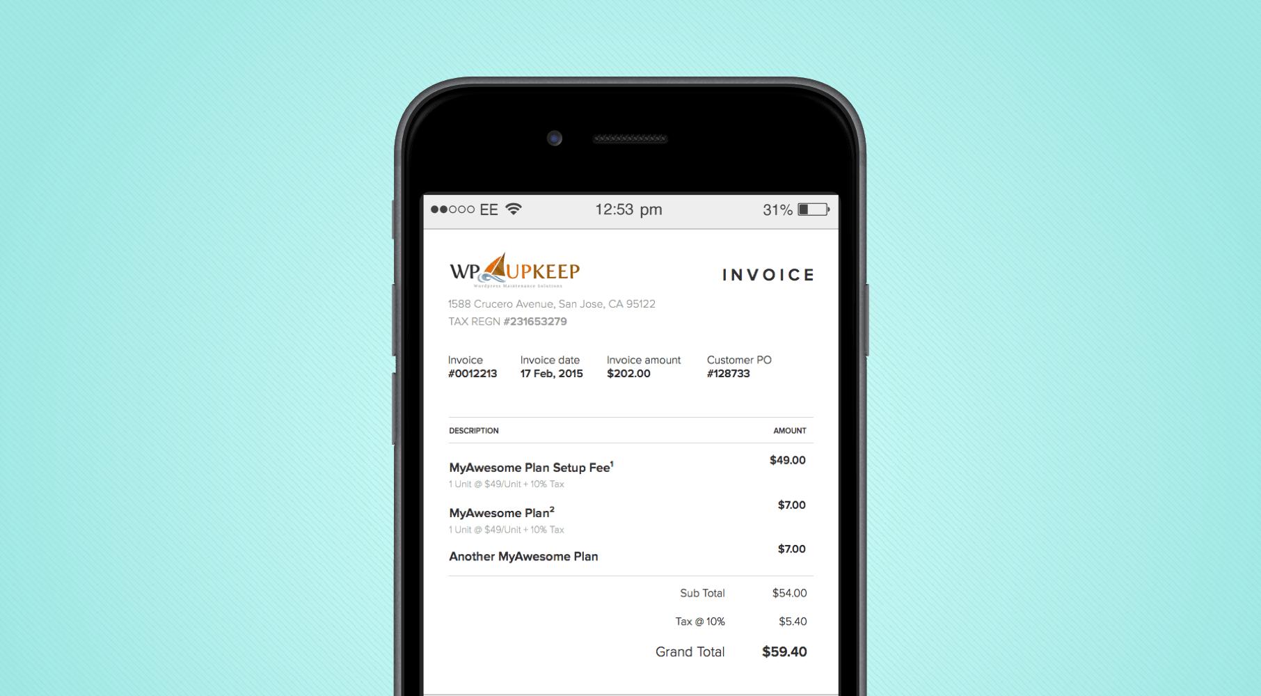 mobile invoice