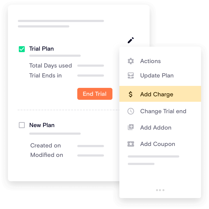 Set up subscription plan trial