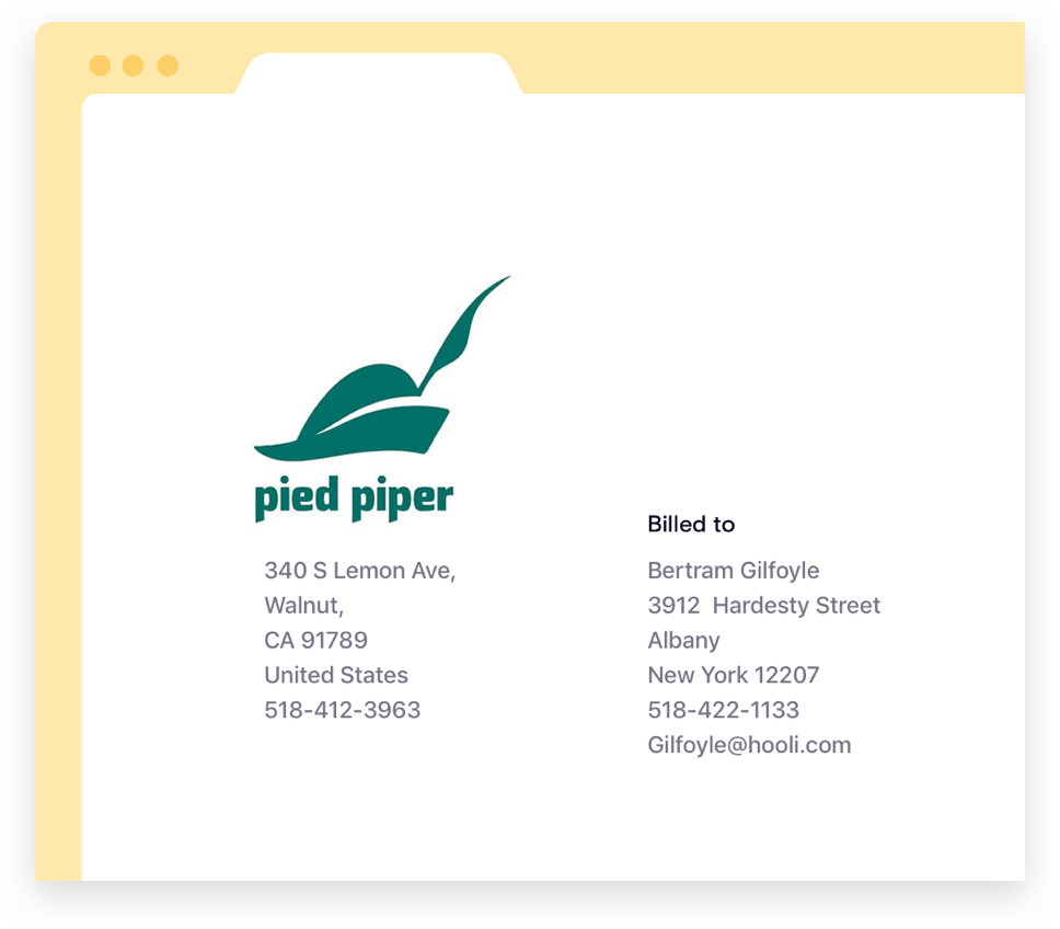 Branded Invoices