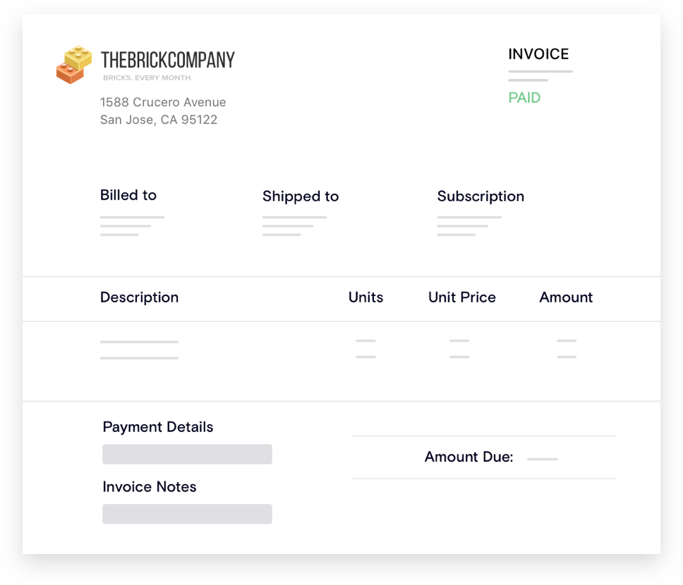 Complete and accurate invoicing