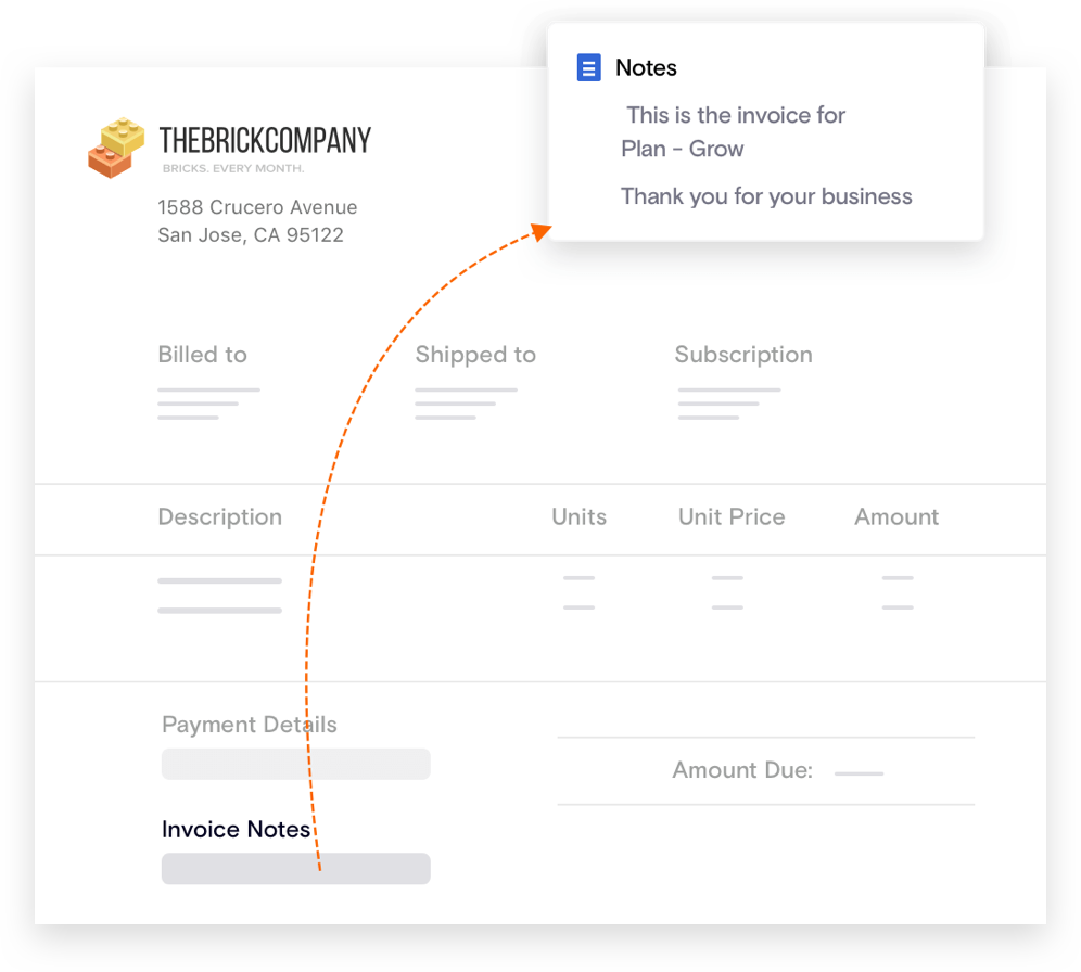 Invoice Notes for Recurring Invoices